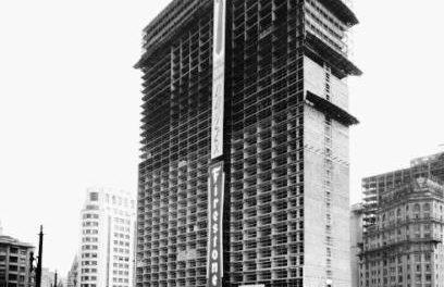 As obras do engenheiro do prédio mais alto da cidade