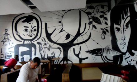 Grafites dão ares de modernidade a lanchonetes e restaurantes paulistanos