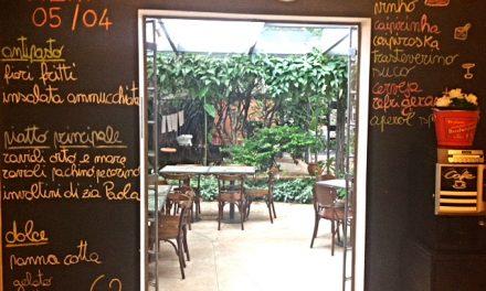 Il Riccio: Um almoço no jardim do ateliê