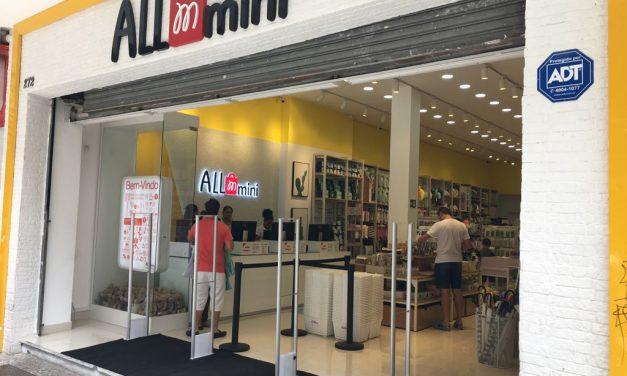 Allmini inaugura loja no centro para concorrer com as japonesas Daiso e Miniso